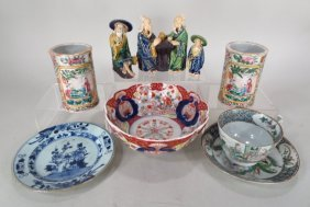 Group Of Asian Ceramic Items, 19th/20th C