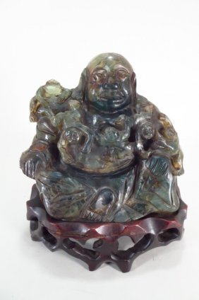 Chinese Green Quartz Figure