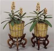 Pair of Chinese Cloisonne' Jardinieres