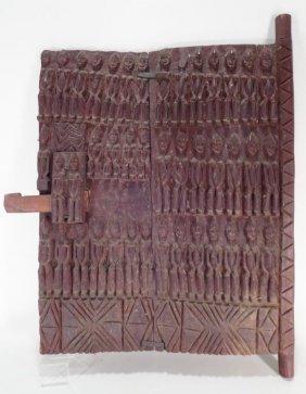 Dogon Carved Door Panel Or Shutter, C. 1900