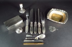 Sterling Silver And Mounted Items, 20th C.