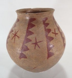 Pima Water Jar, Native American, Early 20th C.
