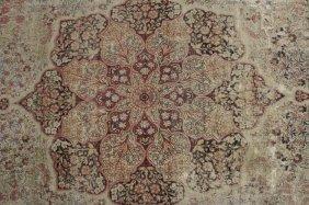Kirman Carpet, Early 20th C. Floral Medallion