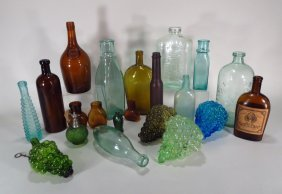 Group Of 19th C Bottles And Decanters