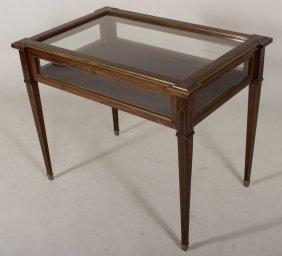 Louis Xvi Style Vitrine Table, Late 19th C.