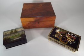 Humidor and Other Boxes, 20th C.