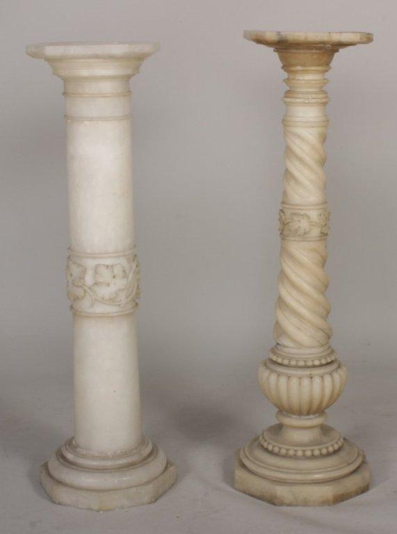 2 Stone Carved Pedestals, c. 1900