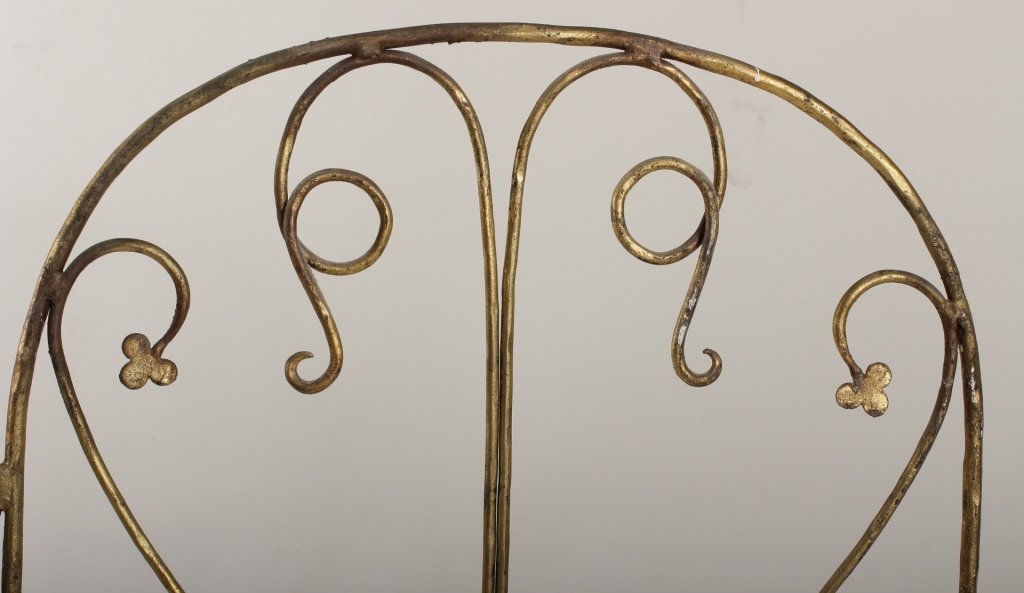 Gilt Wrought Iron Screen,  Am., mid 20th C.,