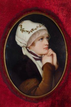 Portrait on Porcelain of Woman