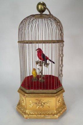 French Automaton, 2 Bird, Attrib.to Bontems c.1900