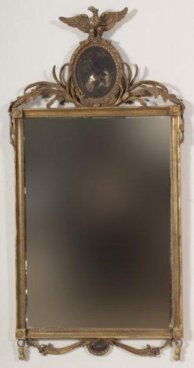 Eagle Topped Gilt Framed Mirror