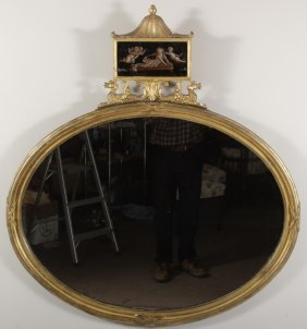 Chinese Chippendale Gilt Wood Mirror, 18th c.