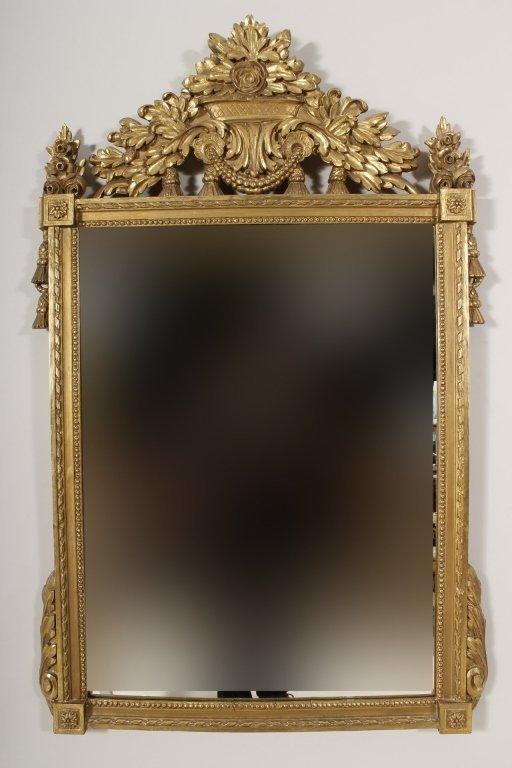Louis XV Style Giltwood Mirror