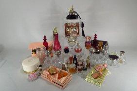 Group Of Dresser Bottles/perfume 19th/20th Century