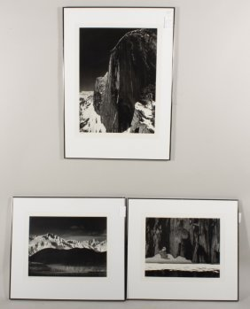 Group Of 3 Ansel Adams Landscapes