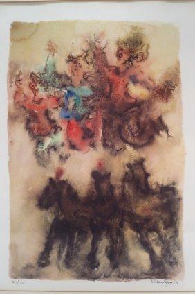 Chaim Gross Lithograph Of 3 Women