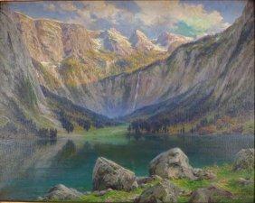 Alexander Mueller, Am., Bavarian Alps, O/c