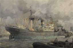 M de Jongere Dutch Rotterdam Harbor OC 1970
