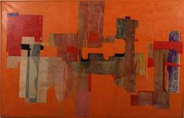 L.F. Berger, Am, mid 20th C., Abstract O/C