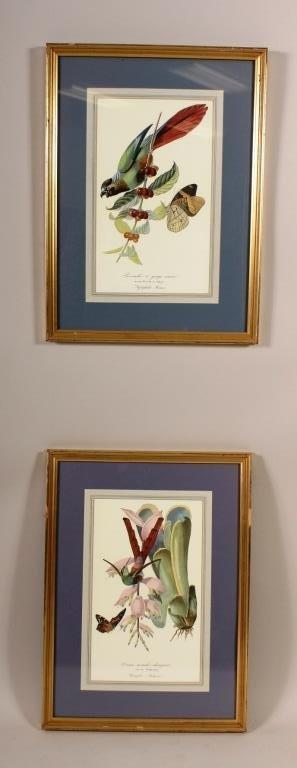 2 Fr. Ornithological,Horticultural Litho.,20thC.