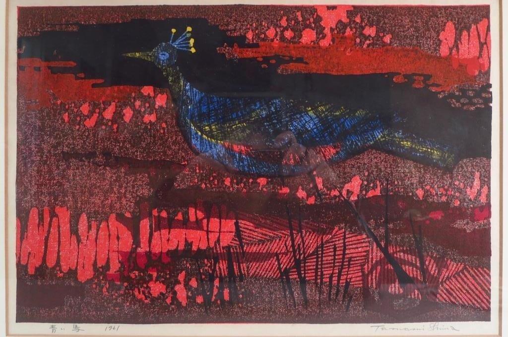 Tamami Shima, Jap., 20th c., woodcut on paper