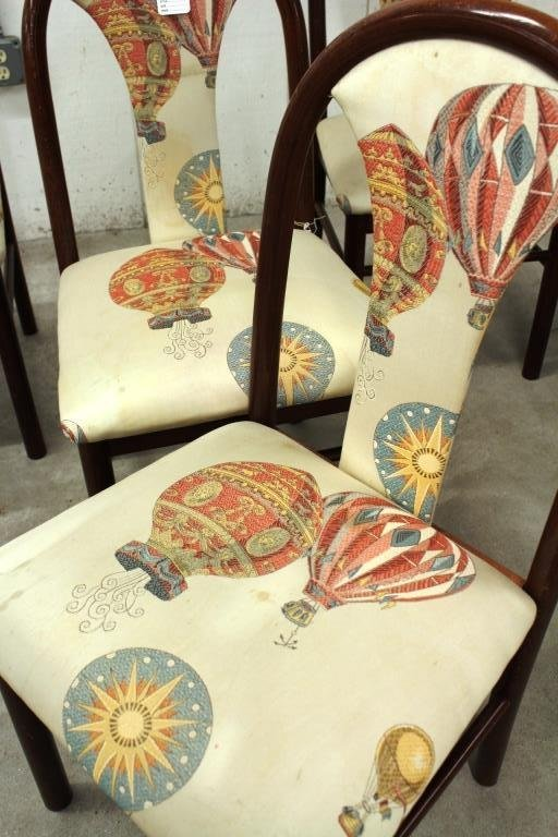 7 Wood and Upholstered Side Chairs
