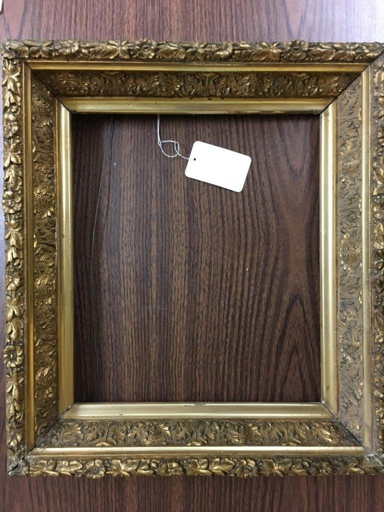 Antique Giltwood Picture/Mirror Blossoms Frame