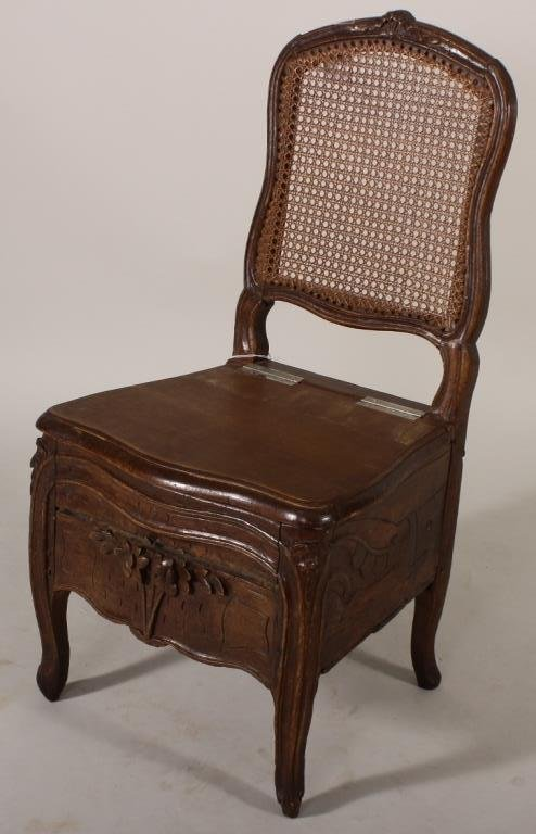 18th C. Louis XIV Commode Chair
