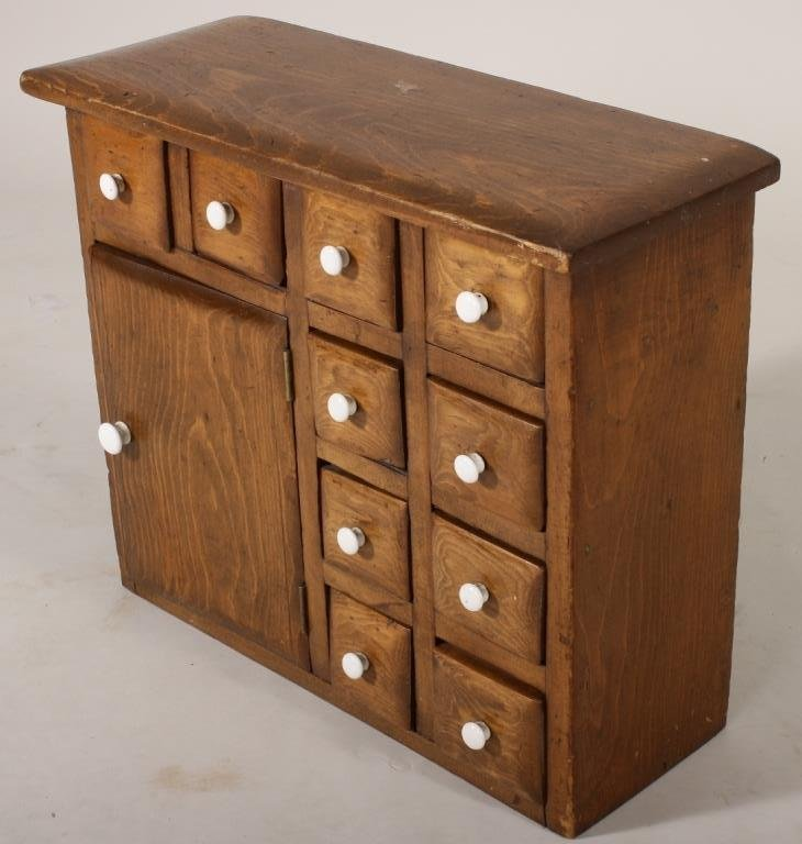 Small Pine Apothecary Chest