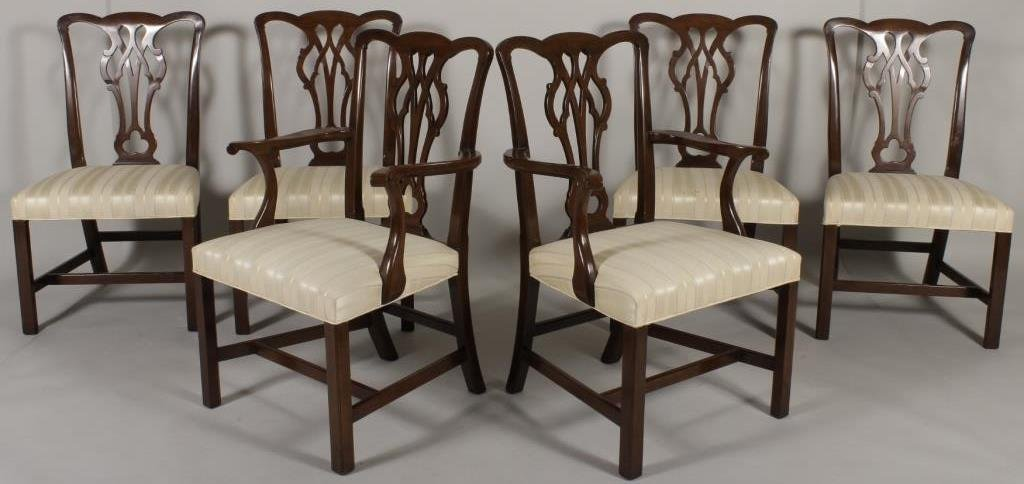6 Chippendale Style Dining Chairs.