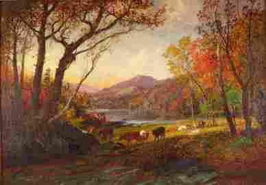 Jasper Francis Cropsey,  Am., 1823-1900, O/C