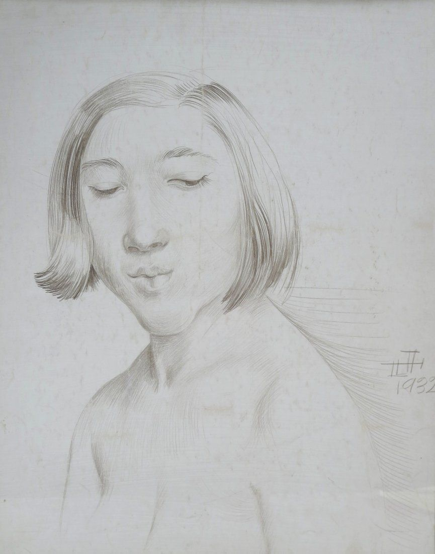 Otto Dix, 1891-1969 Silverpoint, Young Woman