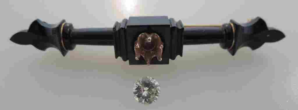 10K Gold and Diamond Victorian Bar Pin