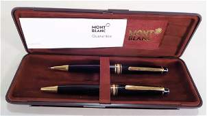 Mont Blanc Meisterstuck Gold Pen and Pencil