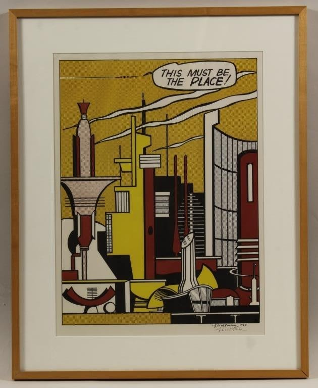 "Lichtenstein,""This Must Be the Place"" signed litho"