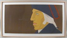 Alex Katz, Am., G. Washington, Colored Lithograph