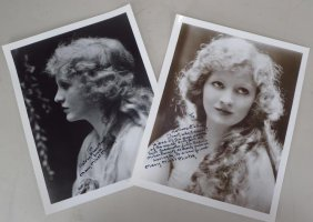 Mary Miles Minter, Silent Star, 2 Sgd Fotos