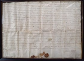Land Grant For Surry County, 1749