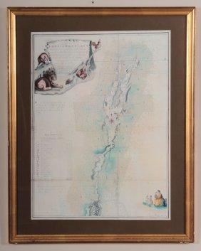 Reproduction Of Plan Of Lake Champlain, 1762