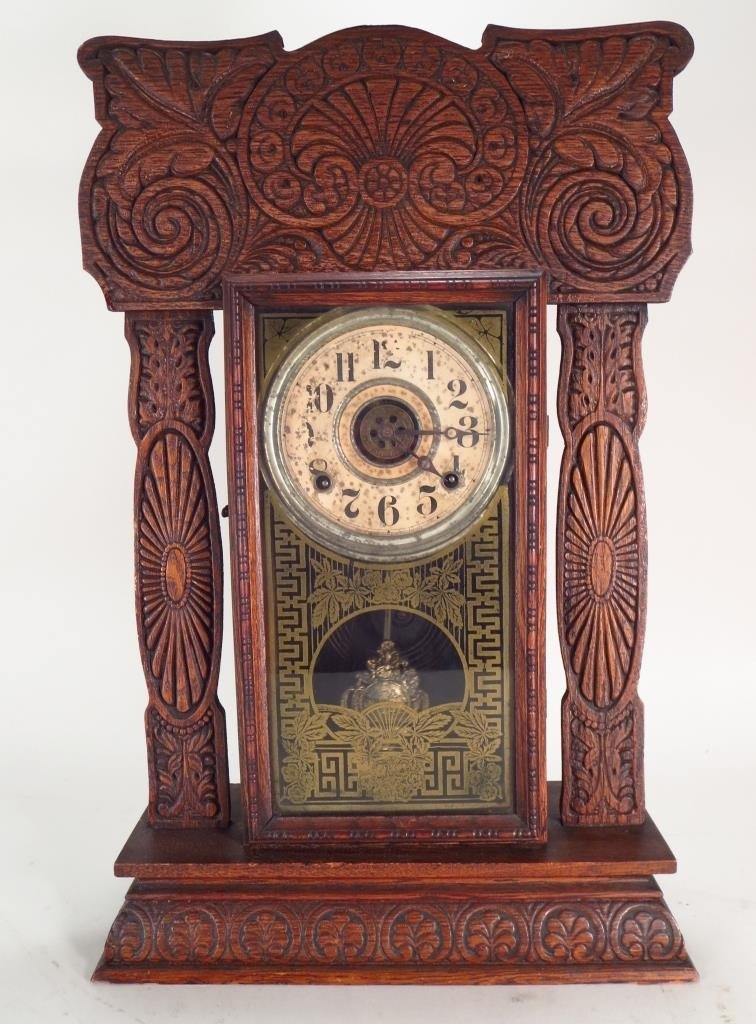 Oak Mantle Clock, E. Ingraham Co., Bristol, CT