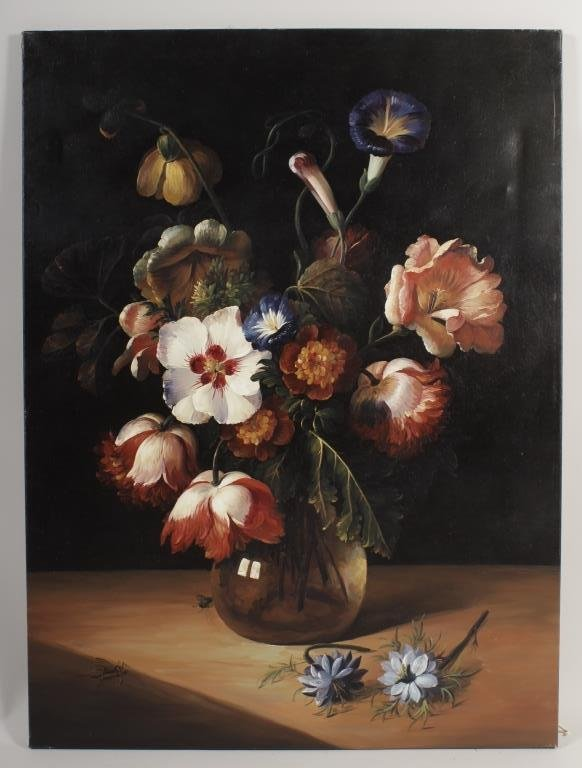 "After Dirck de Bray, ""Flowers in a Glass Vase"""