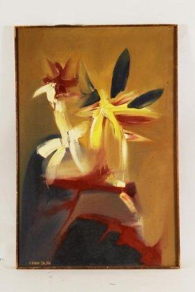 Arnold Weber, Abstract Floral, O/c