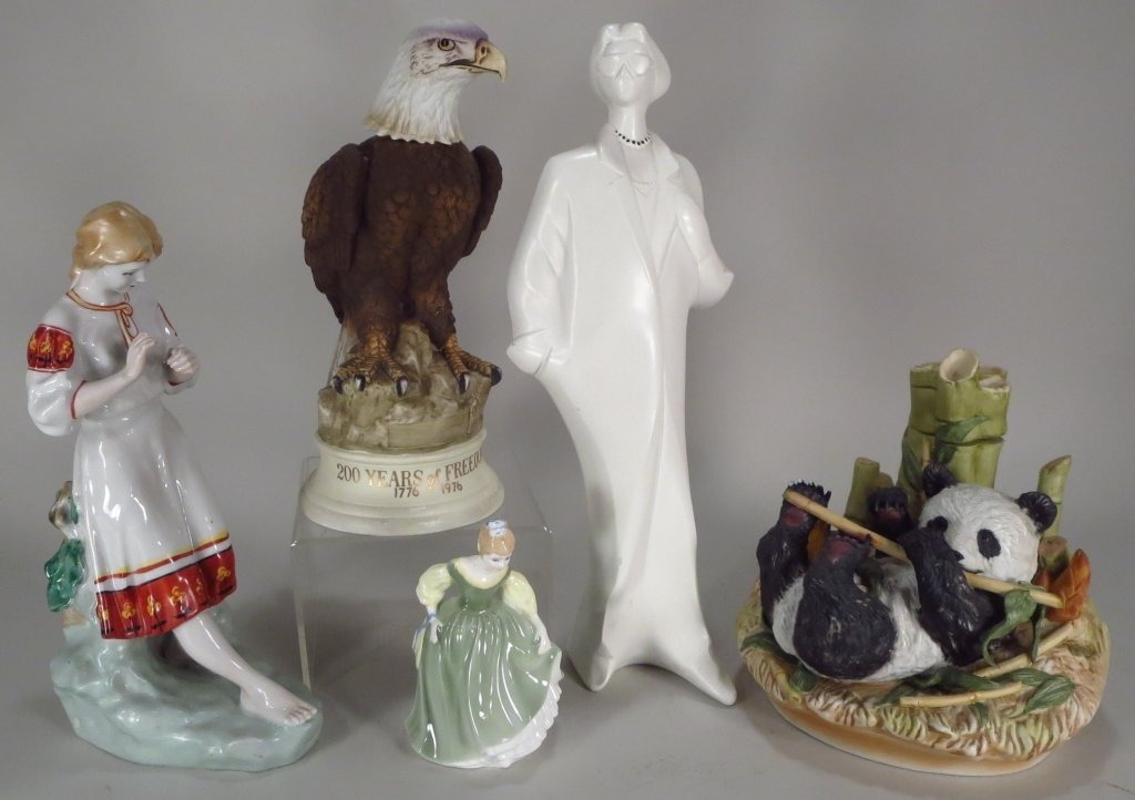 5 Porcelain/Ceramic Figures, 20th C.