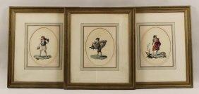 Three Watercolors Continental, 19th C.