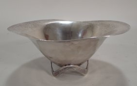 Hand Wrought Sterling Silver Bowl, Mexican