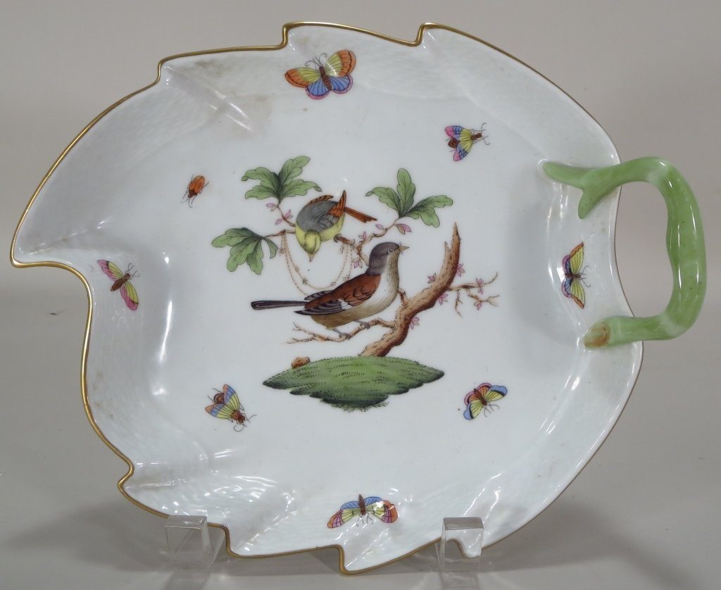 Two Herend Porcelain Serving Pcs, Hungary, 20th C.