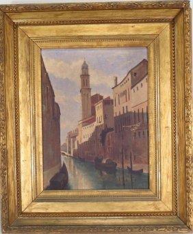 E.l. Venetian Canal Scene, O/c