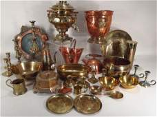 Copper and Brass Items, 19th/20th C.