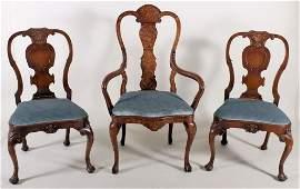 Dutch Marquetry Chair  Pair of Continental Chairs