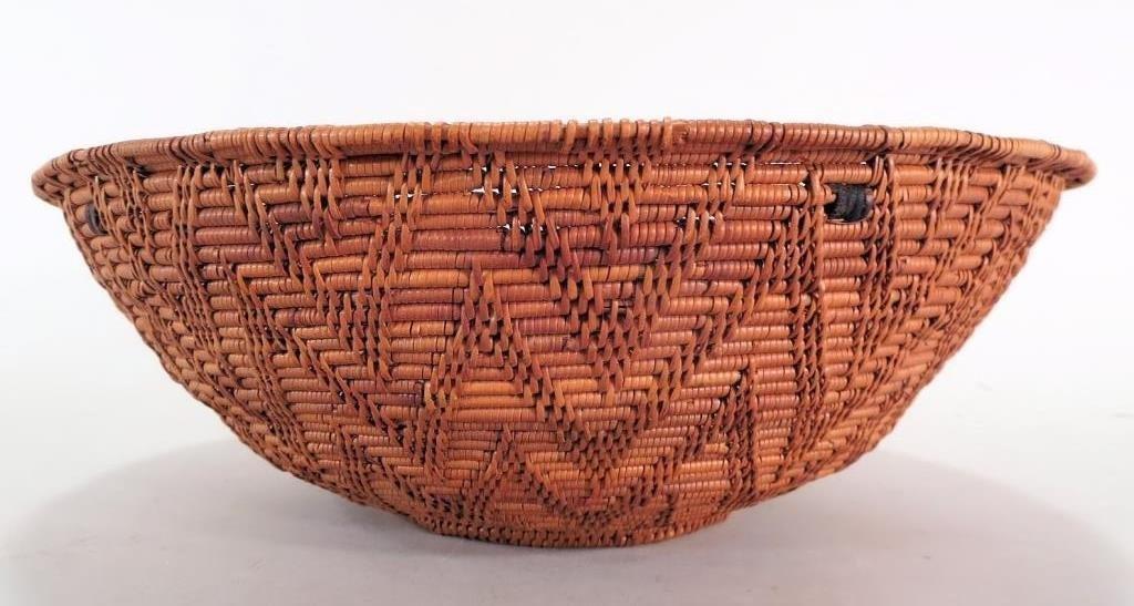 Native American California Woven Basket, c. 1900